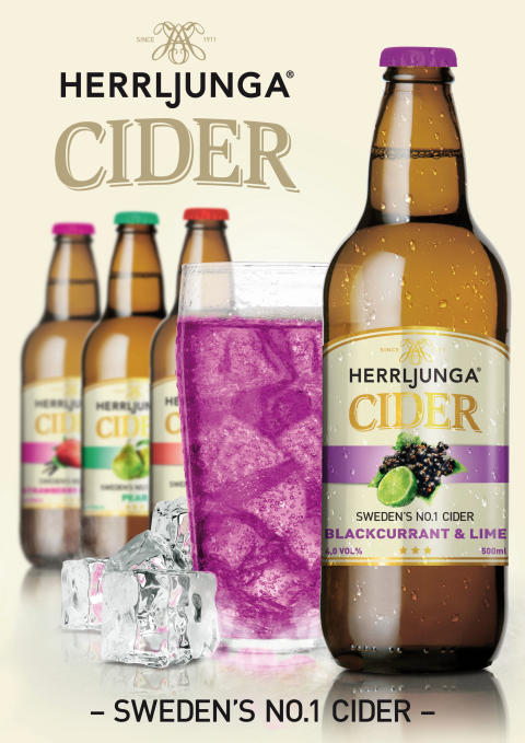 Herrljunga Cider Perfect Serve Blackcurrant & Lime