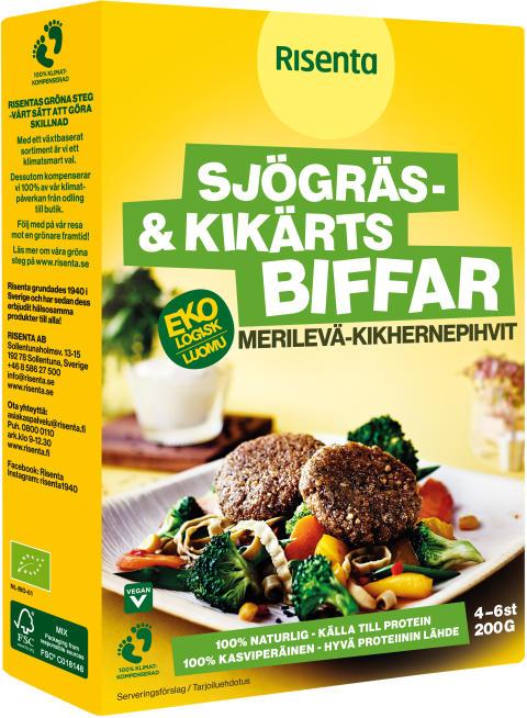 Risenta - Vegorätt Sjögräs- & kikärtsbiffar 200 g