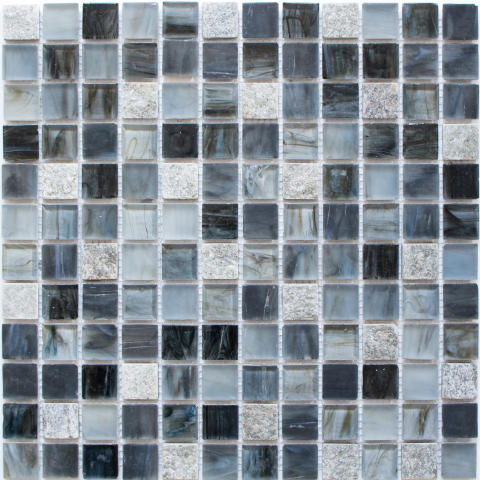 Mosaik Eventyr Paradisets Have Mørkeblå 30x30, 1.498 kr. M2.