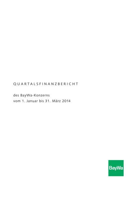 Quartalsbericht Q1/2014