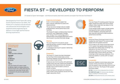 FIESTA ST - DEVELOPED TO PERFORM