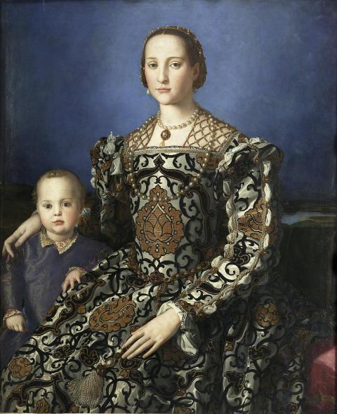 Eleonora av Toledo och sonen Giovanni, ca 1546, målning