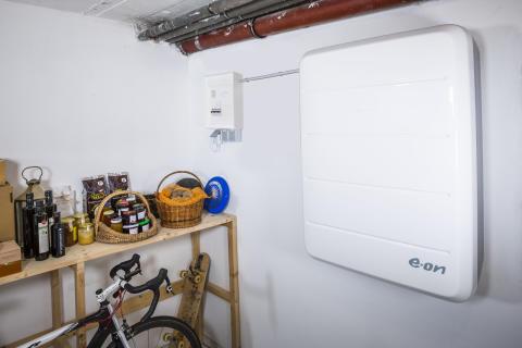 E.ON lanserar ett batteri för lagring av solenergi