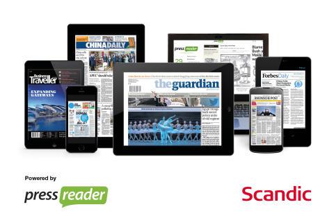 Scandic tilbyder ubegrænset adgang til mere end 5000 aviser og magasiner til deres gæster via PressReader