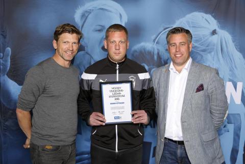 Henrik Ottosson, Billesholms IK, tilldelas  Woody Ungdomsledarstipendiet 2016
