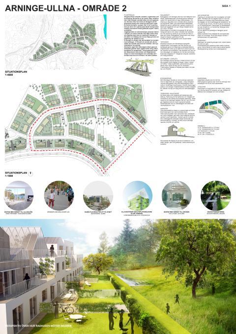 Arkitektförslag: Titania vinner anbudstävling avseende nyproduktion av 99 bostäder i Täby!