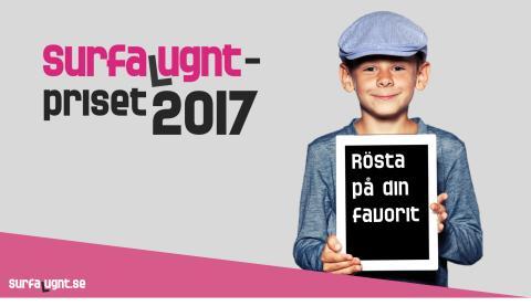 Åtta nominerade till Surfa Lugnt-priset 2017