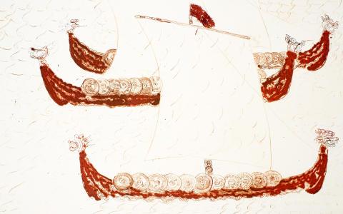 Slaget ved Clontarf - vikingeskibe