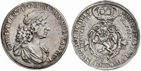 Fyrdubbel speciedaler - såld på auktion i Tyskland för 1,1 miljoner kronor