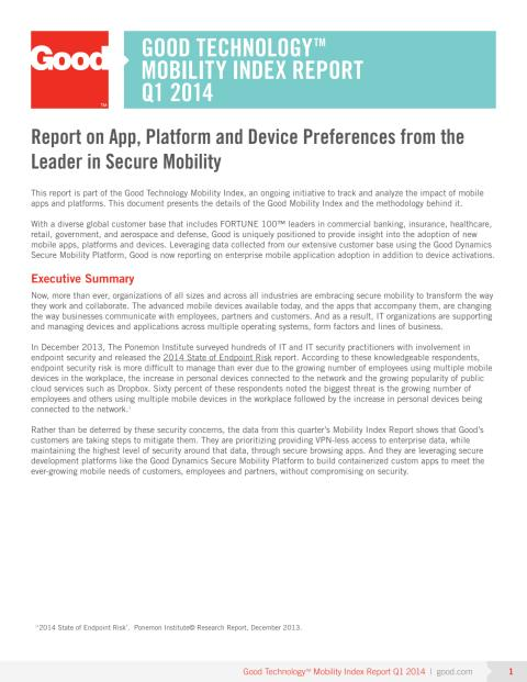 Good Technology Mobility Index Report Q1