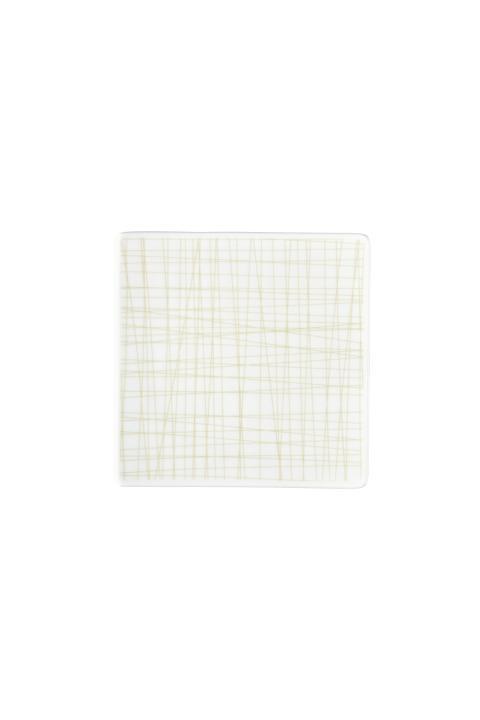 R_Mesh_Line Cream_Plate 14 cm square flat