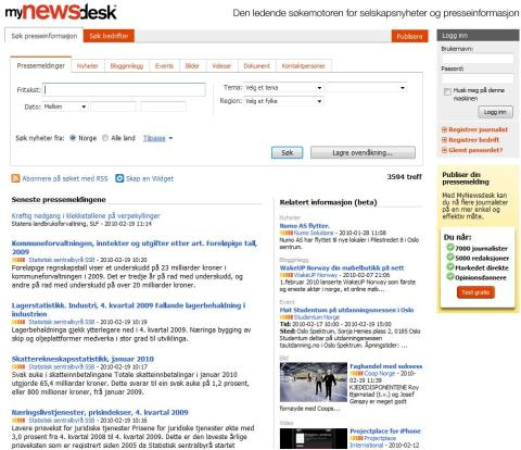 Ny PR-tjeneste effektiviserer formidling av presseinformasjon i Norge - MyNewsdesk åpner kontor i Oslo.