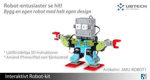 Bygg din egen robot med interaktivt Robot-kit!