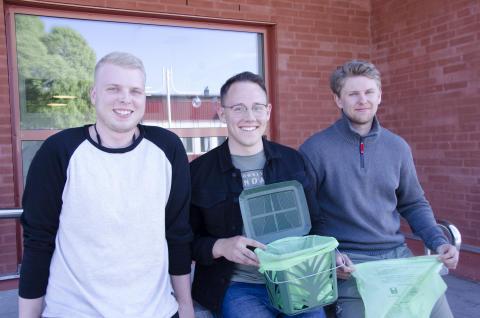Studenter undersökte kompostpåsars hållfasthet