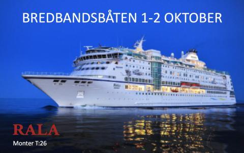 Bredbandsbåten 1-2 oktober 2019