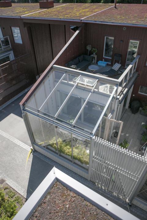 Ulvsuda växthus från ovan