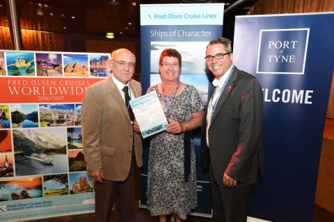 Lucky competition winner scoops a Fred. Olsen cruise prize a year for two 'for life', worth a staggering £160,000!