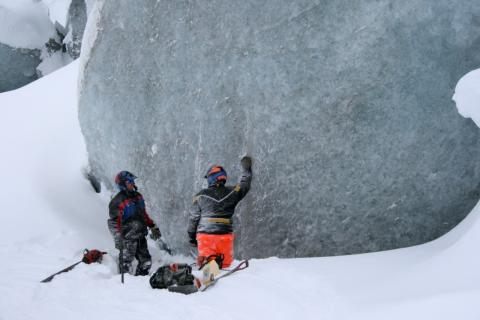 Glaciär på Vildmarksmässan