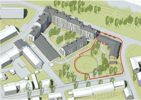 Förskolan Rosendal och allmänna parken ingår i projektet