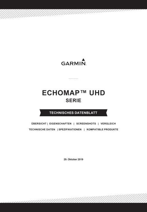 Datenblatt Garmin ECHOMAP UHD