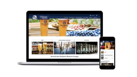 Neue Website inkl. Shop der Paulaner Getränke und Service Gesellschaft