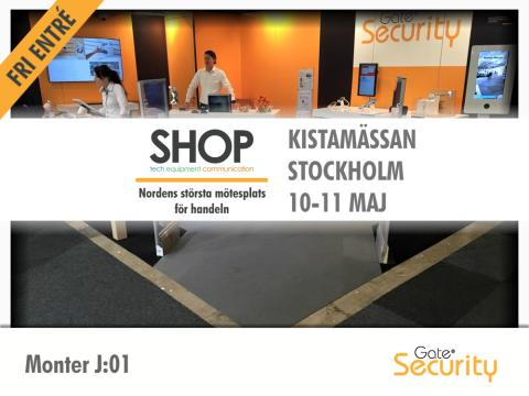 Besök Gate Security på SHOP 2017, Kistamässan