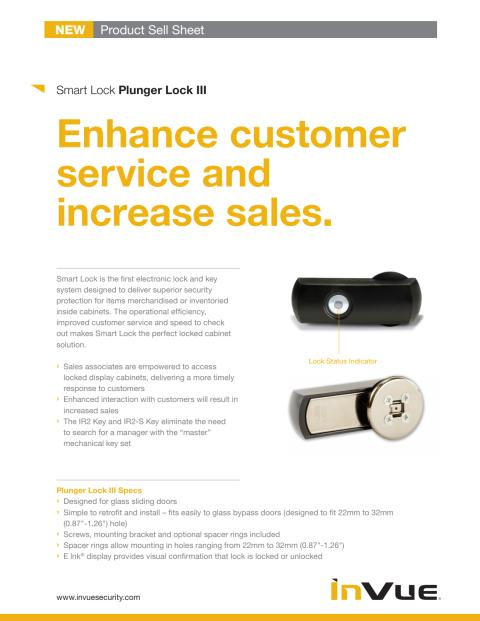 Varularm från Gate Security - InVue, Smart Lock - Plunger III