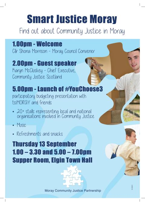 poster for Community Justice event