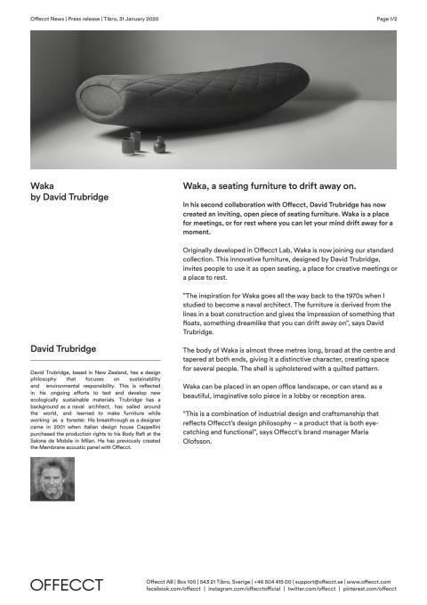 Offecct Press release Waka by David Trubridge_EN