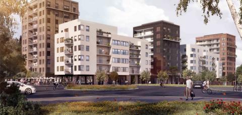 Klartecken för 800 nya bostäder i Flemingsberg