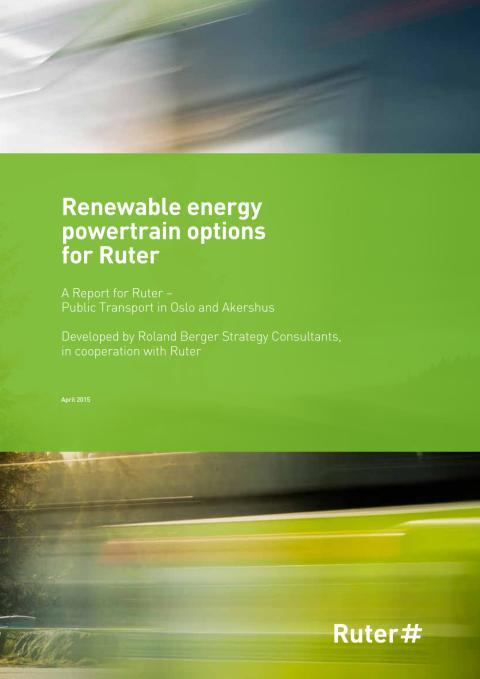 Renewable energy powertrain options for Ruter