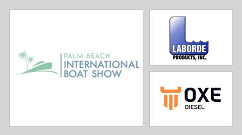 OXE Diesel displayed at Palm Beach International Boat Show by Laborde Products Inc.