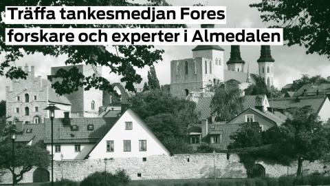 Ta hjälp av Fores forskare och experter i Almedalen