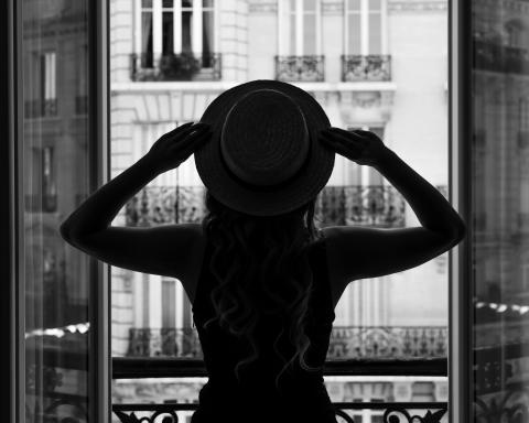 Girl and a hat