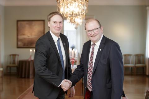 Johan Blom och Kenneth Johansson