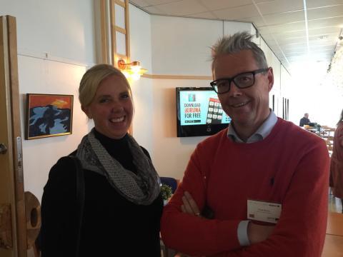 Susanne Wallin och Trond Øverås