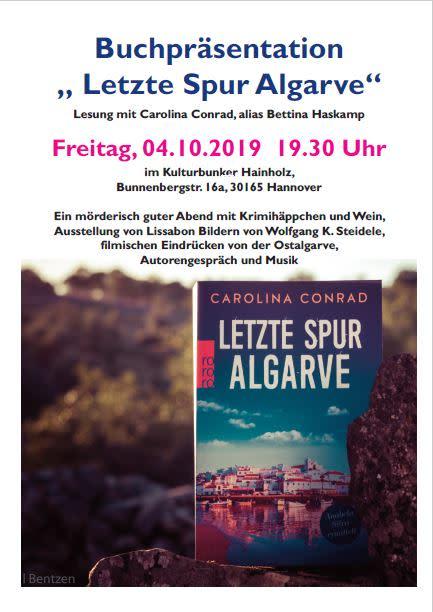 """EINLADUNG zur Buchpräsentation """"Letzte Spur Algarve"""""""