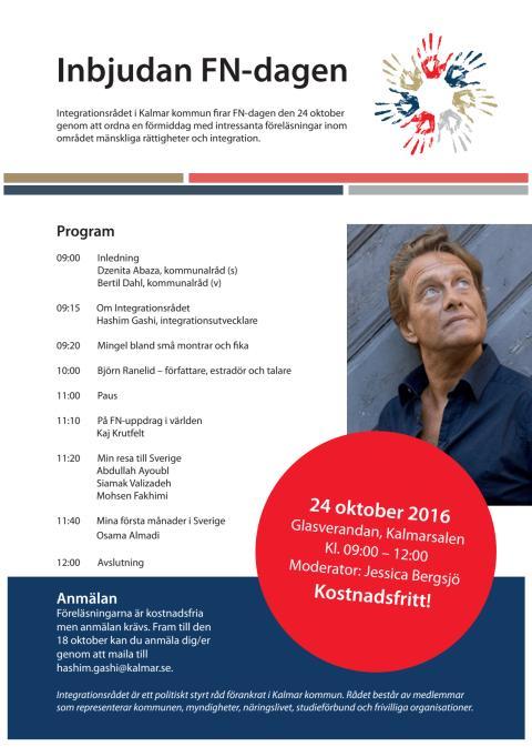 Pressinbjudan: FN-dagen med integrationsrådet och Björn Ranelid
