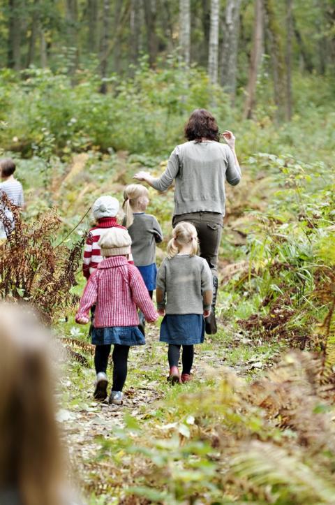 Invigning av barnspår i Sätraskogen