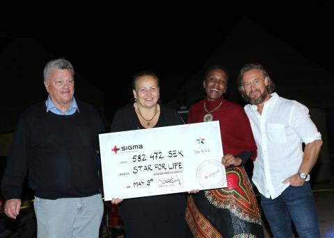 Över en halv miljon till Star for Life efter dagsverke