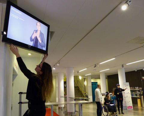 Stadsmuseet kan få Sveriges första teckentolkade museifoajé