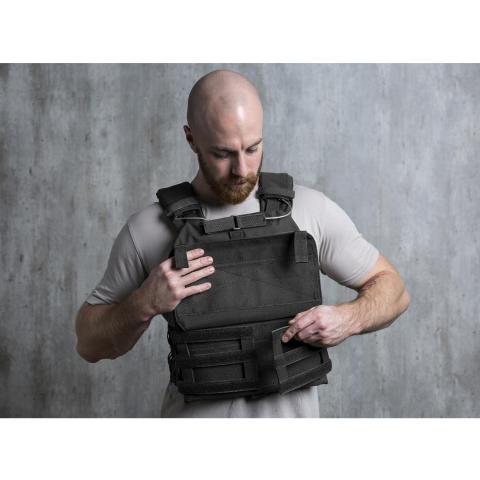 Battle Vest schwarz klett 10031687