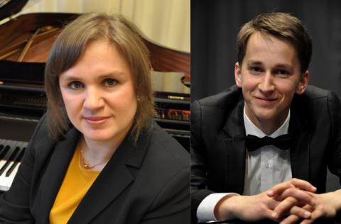 Pianokonsert med Julia Mustonen-Dahlkvist och Daumants Liepins i Hultsfred.