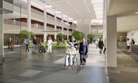 NVS installerar sprinkler på Nya Karolinska Solna