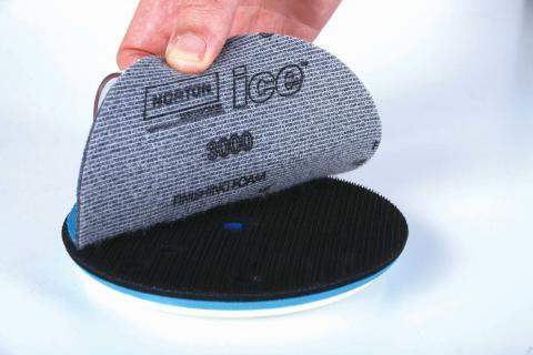 Norton Ice slip- och polerrondeller för klarlack - Kardborre
