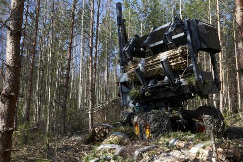Visning av innovativa skördesystem för biomassatäta ungskogar