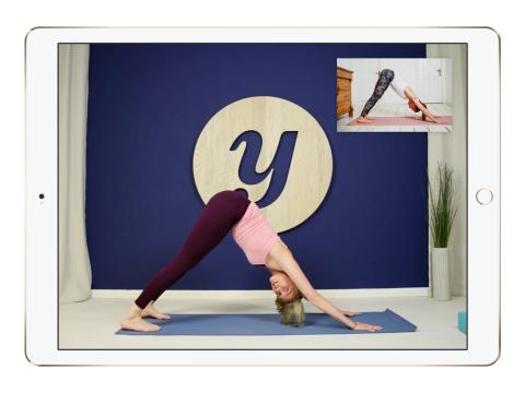 Interactive Yoga class