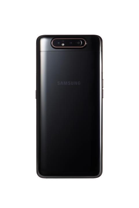Galaxy A80_Phantom_Black_back_with_camera