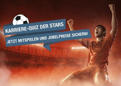 Karriere-Quiz der Stars: Mit stellenanzeigen.de das Fußballwissen testen und Jubelpreise gewinnen