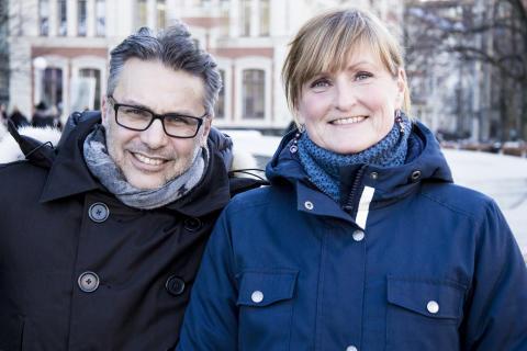 Clas Stenström, APS, och Ulrica Hellichius, CSRECO gör gemensam ansträngning för stötta barn och unga i Västsverige.